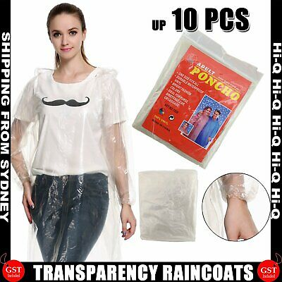 Disposable Ponchos Emergency Rain Coats Adult Waterproof Raincoat Camping Hiking