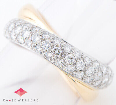 AUTHENTIC TIFFANY&Co. Dot twist pavé setting diamond Platinum950/18k yellow...