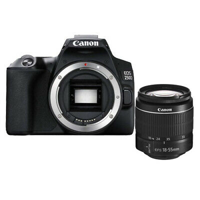 Canon EOS 250D 18-55mm f/3.5-5.6 III Black Lens kit Multi From US