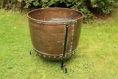 Riveted Copper Tub, Vintage, Decorative, Display, Planter #4