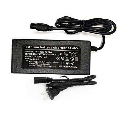 42V 2A Power Adapter Charger For 2 Wheel Self Balancing Scooter US