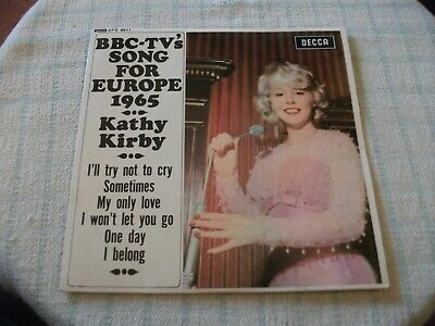 """Kathy Kirby BBC TV's Song For Europe 7"""" UK PS EP 1965 Super Overall Sound !"""