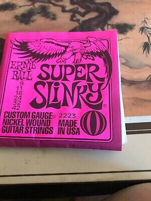 Ernie Ball Super Slinky Nickel Wound Electric Guitar String Set 9-42 2223