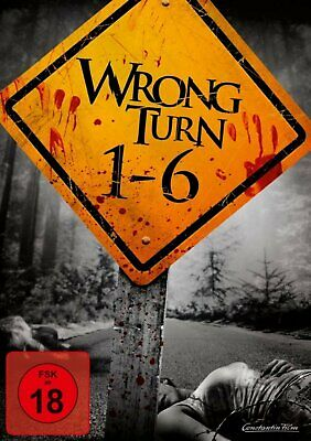 Wrong Turn 1 2 3 4 5 & 6: The Complete Collection Box Set | New | Region 2 DVD