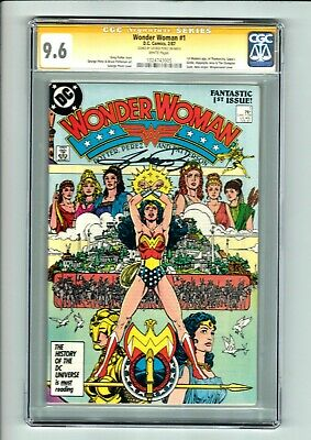 Wonder Woman #1 CGC SS 9.6 George Perez Who is Retiring from Comics! Movies! 🔥!