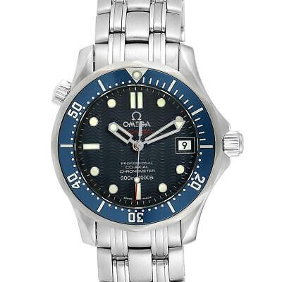 Omega Seamaster Midsize 36mm Co-Axial Blue Dial Watch 2222.80.00 Card