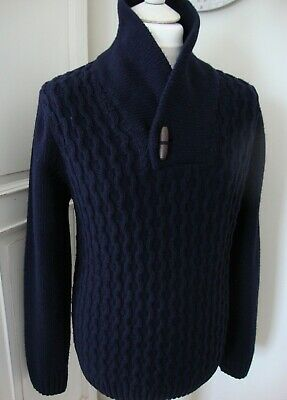 John Lewis Chunky knit Lambswool Jumper. Size XL. Navy