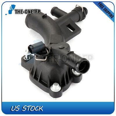 Engine Coolant Thermostat Assembly For 2011-2016 Chevy Cruze L4 1.4L 1.8L 131183