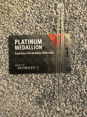 Brand new 2019 Delta Platinum Medallion Luggage Tag - free shipping!