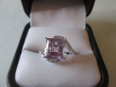 Rose De France Amethyst Platinum over Sterling Silver Ring (Size 7) TGW 3.35 cts