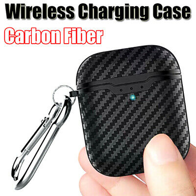 Carbon Fiber Soft Case For AirPods 2nd Generation 2019 Wireless Charging JG