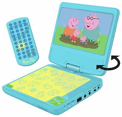 PEPPA PIG 7 INCH PORTABLE IN - CAR DVD PLAYER - Brand New