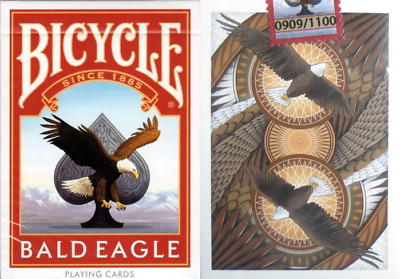 Bicycle Bald Eagle Playing Cards - Limited Numbered Edition - SEALED