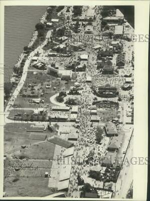 1981 Press Photo Aerial view of Summerfest grounds - mjx51721