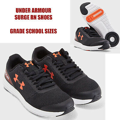 Under Armour Surge RN Boys Grade School Black Sneakers NEW