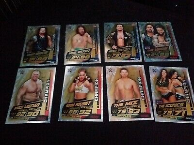 Topps Wwe Universe Set of 8 champion cards