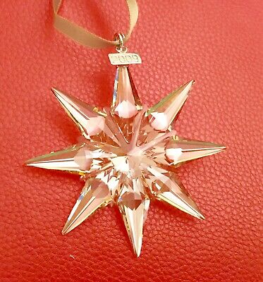 Swarovski scs 2009 Gold Large Christmas Ornament 1026761new in box.