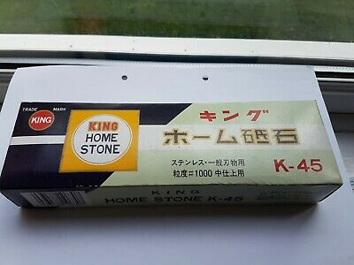 King K-45 Whetstone Waterstone Sharpening Stone #1000 IBR in good used condition