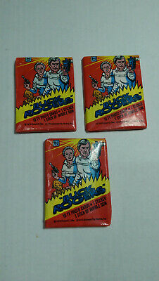 1979 Topps Buck Rogers Unopened Wax Pack Lot of (3) Packs