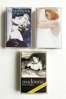 MADONNA x3 LIKE A VIRGIN, TRUE BLUE, SOMETHING TO REMEMBER - Cassettes