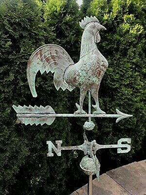 Antique Southampton Copper Rooster Weathervane