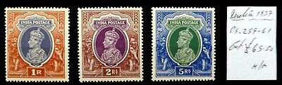 INDIA 1937 G.VI High Values Mounted Mint As Described NR955