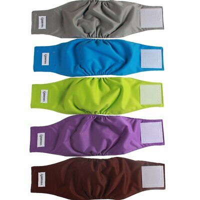 Vecomfy Belly Bands For Male Dogs 5 Pack Premium Washable Reusable XS