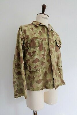Vintage WW2 1940's US Army HBT Frogskin Jacket Duck Hunter Pacific