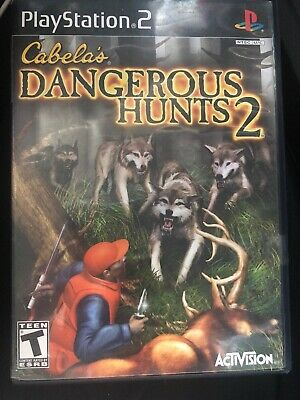 Cabela's Dangerous Hunts 2 PS2 Sony PlayStation 2, 2005 Complete Game