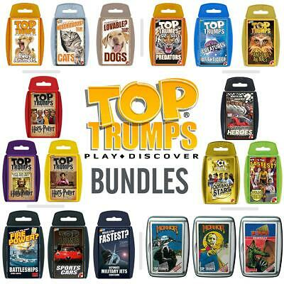 Top Trumps 3 & 4 Pack Bundles for 2019 - Brand New and Sealed