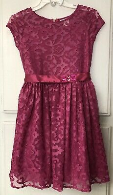 American Girl Merry Magenta Pink Youth CHILD Dress SIZE 14 Holiday Formal