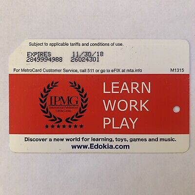 IPMG Metrocard - Expired in Good Condition *Collectible Item*
