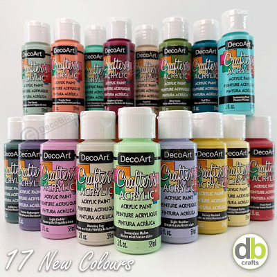DecoArt Crafters Acrylic Paint New 2019 Colours - 2oz 59ml - 4pm Dispatch