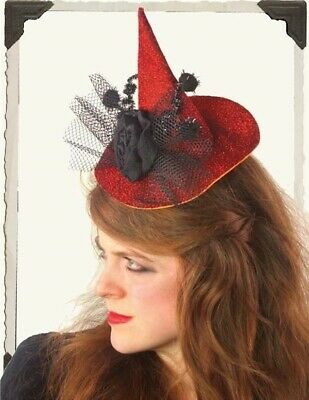 Victorian Trading NWOT Halloween Witch Hat Headbands Set of 2 Green & Red 1B