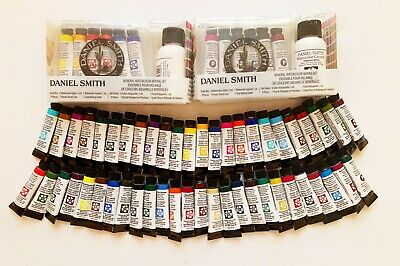 LOT OF 68 Daniel Smith Extra Fine Watercolor Paint & Essential Mixing Set  *NEW!