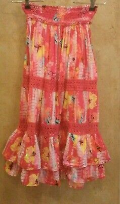 The Childrens Place Girls Skirt Size 8 Kids Pink Layered Sequins Boho Whimsical