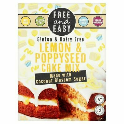 Free & Easy Gluten & Dairy Free Lemon & Poppyseed Cake Mix 350g