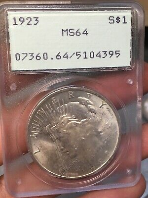 1923 US Peace Silver Dollar $1 - PCGS MS64 - PCGS Old Rattler