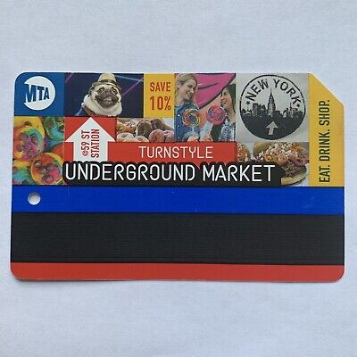*Rare* TURNSTYLE MARKET Metrocard - Expired in VG Condition *Collectible Item*