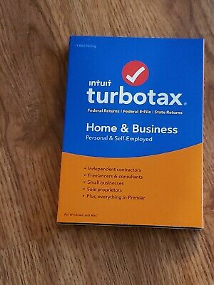 2018 TurboTax Home & Business Federal Tax Software, PC/Mac CD No State Download