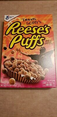 Travis Scott Limited Edition Reese's Puffs Cereal 11.5 Oz. Box Sealed