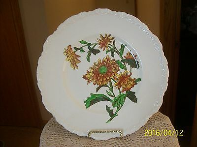 Cauldon England Antique Porcelain China Charger Plate Crysanthemum Pattern