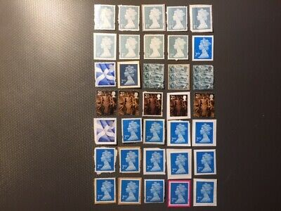 Gb Unfranked Stamps. 1st and 2nd Class. Face Value over £18 (Lot PV10)