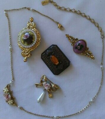 Vintage 1928 Costume Jewelry Lot - 5 pieces