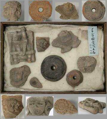 MV03 Maya Antique Earthenware 8 pieces Excavated from Mexico #Pre Columbian