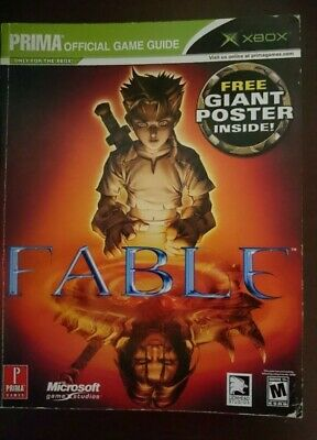Official 2004 Fable Prima Strategy Guide Microsoft Xbox