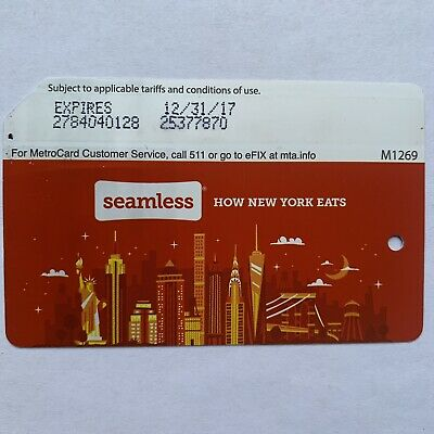 Seamless Metrocard - Expired in Mint Condition *Collectible Item*