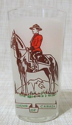 RCMP Royal Canadian Mounted Police Souvenir Glass -  Vintage - 8 Ounce Capacity