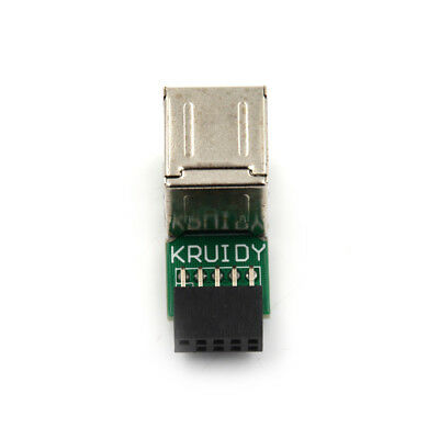 9Pin Motherboard to Double Layer 2Port USB2.0 A Female Internal Header AdapteFAA