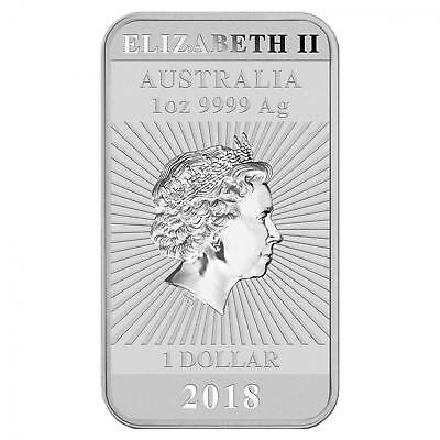 2018 Perth Mint .999 Fine Silver 1 oz Dragon Bar with protective capsule